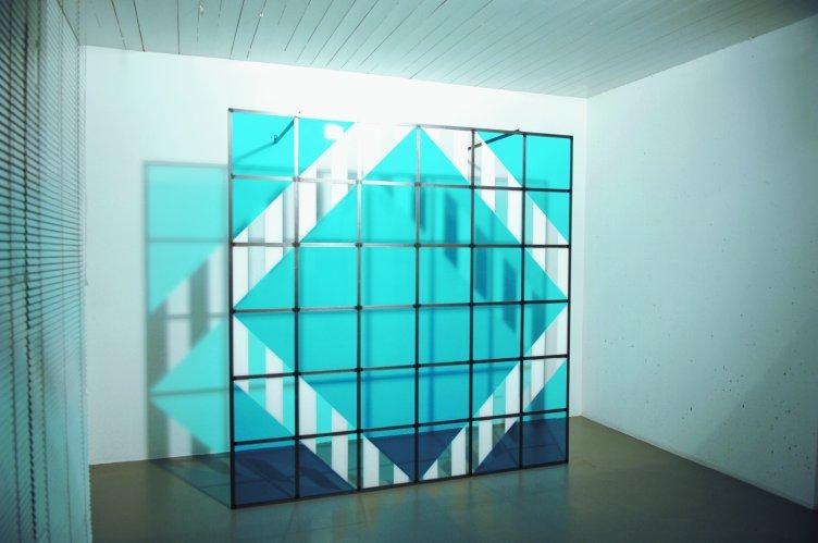 Daniel Buren - Cadre décadré 13 C1 (blau)