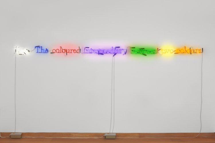 Joseph Kosuth - #II49. (On Color/Multi #7)